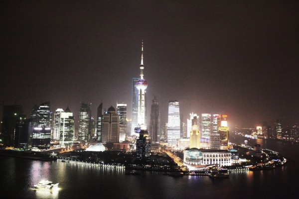 Shanghai Island Pudong at night