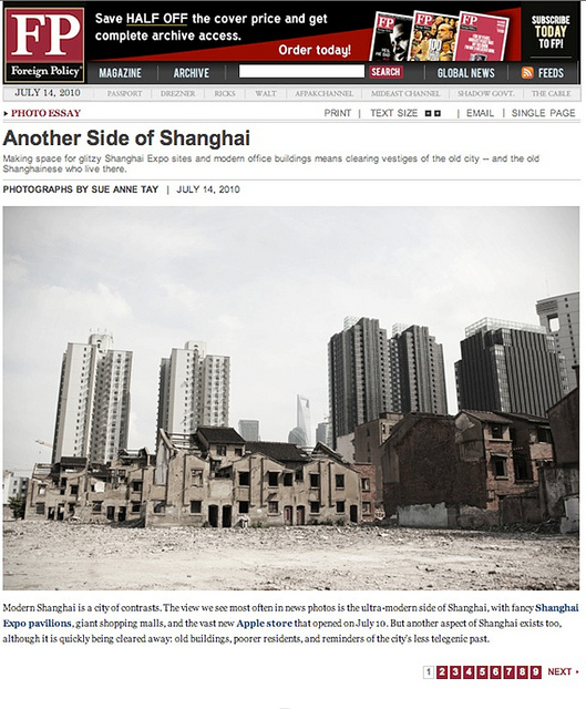Bulldozed in Shanghai FOPO JUL10
