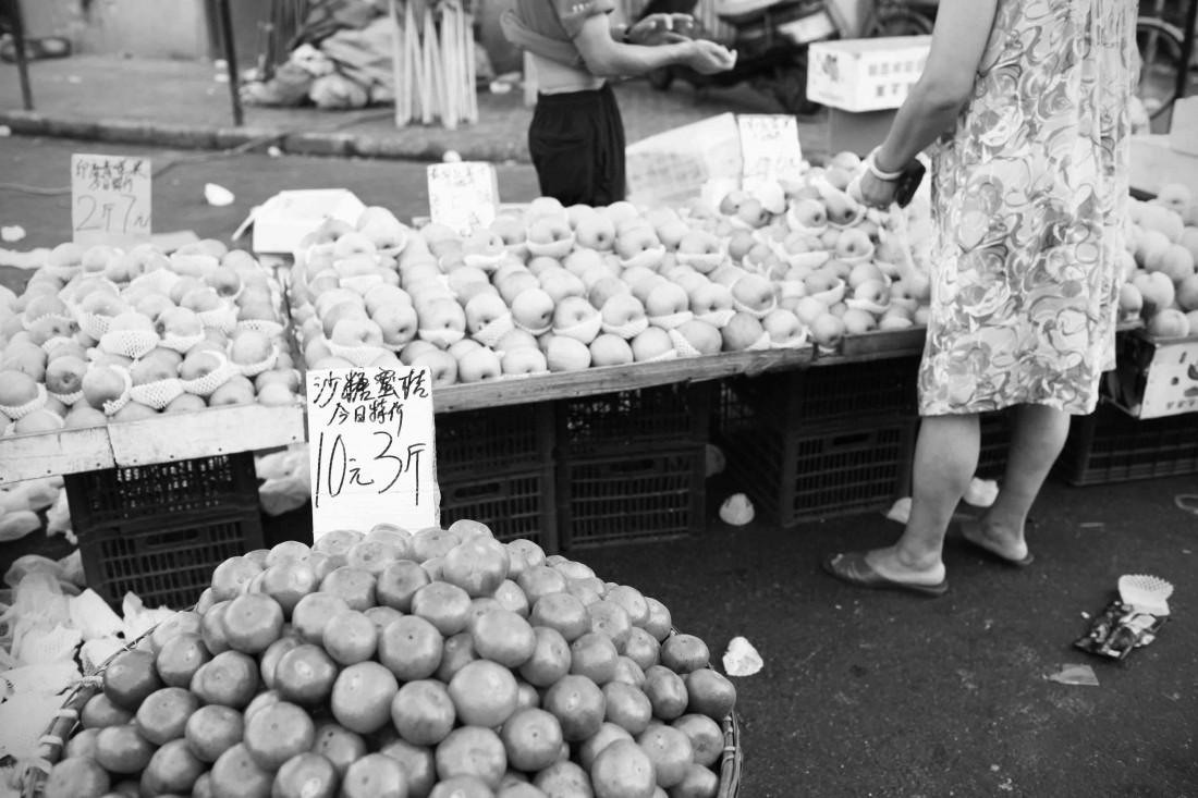 Hongkou market BW 03