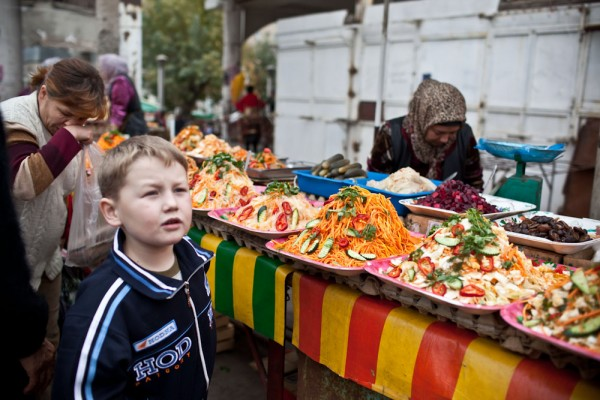 Bishkek Osh Food Russian boy