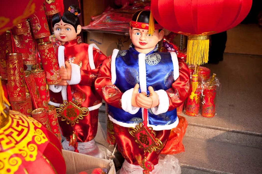 Happy Chinese New Year dolls