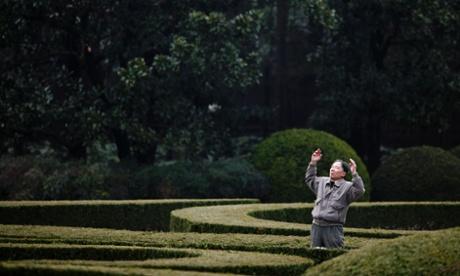 Man in Shanghai park