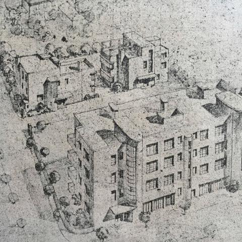 Robert Fan Yafa Courts Drawing
